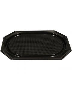 Serveringsfat plast svart PS 36x54cm 10/FP
