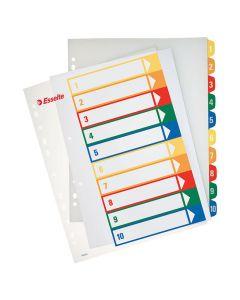 Plastregister Projektindex A4+ 1-10