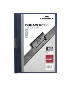Klämmapp Duraclip 2209 A4 6mm m.blå