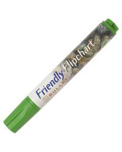 Blädderblockspenna FRIENDLY rund grön