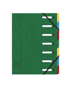 Sorteringsmapp EXACACOMPTA 7-flik grön