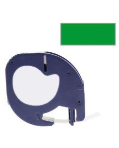 Tape LetraTAG Plast 12mm Svart på Grön