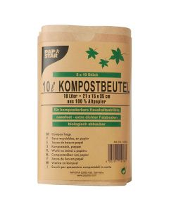 Kompostpåse PURE 10 liter brun 50/FP