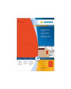 Etikett HERMA Färg röd 105x148mm 400/FP
