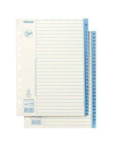 Pappersregister JOPA A4 1-52 vit/blå