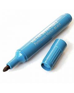 Märkpenna detekterbar rund blå