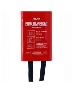 Brandfilt NEXA 120x120 cm i box röd