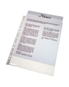 Plastficka ESSELTE A4 prägl. 0,11mm 100/FP