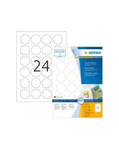 Etikett HERMA Movable rund Ø40mm 2400/FP