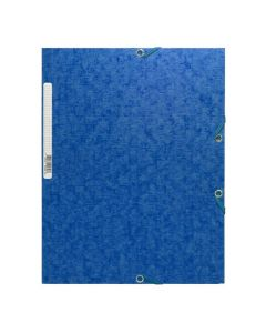 Gummibandsmapp Scotten A4 3-klaff blå