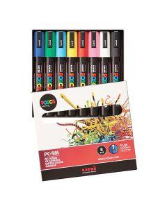 Märkpenna UNI Posca PC-5M 8 färger