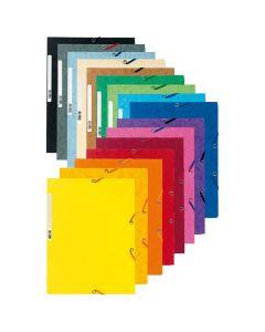 Gummibandsmapp EXACOMPTA 400g 3kl A4 olika färg