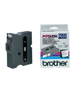 Tape BROTHER TX251 24mm svart på vit