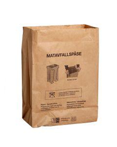 Matavfallspåse SANSAC Papp 22 liter 100/BNT