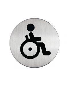 Skylt WC handikappad DURABLE 83mm stål