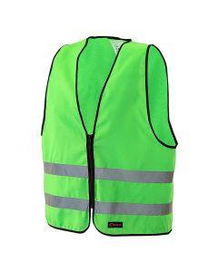 Reflexväst med dragkedja Vuxen-L grön