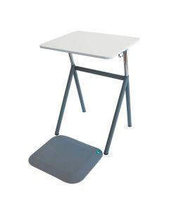 StandUp Elevbord+matta laminat Ljusgrå
