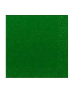 Servett 3-lags 24x24cm mörkgrön 250/FP