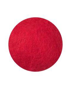 Kardad ull 250g röd