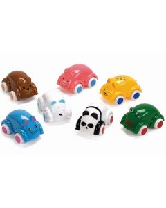 Bil liten med djuransikte VIKING 8cm