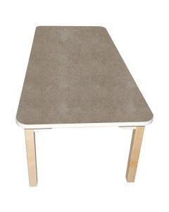 Akustikbord 80x140cm beige runda hörn H72cm