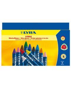 Bivaxkrita LYRAX 12 färger