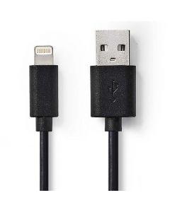 Kabel NEDIS Lightning - USB A 2m Svart