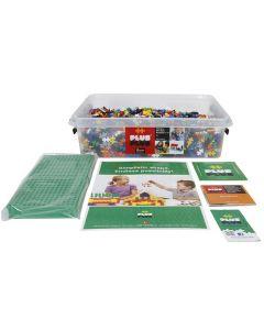 Miniklossar Plus Plus med byggplattor