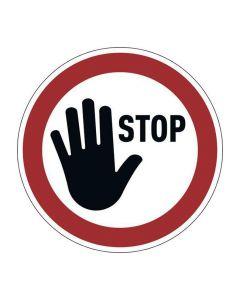 Varseldekal 'STOPP' avtagbar