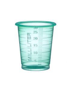 Medicinbägare Eco 30ml smal grön 90/FP