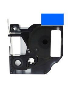 Tape D1 6mm Svart på Blå