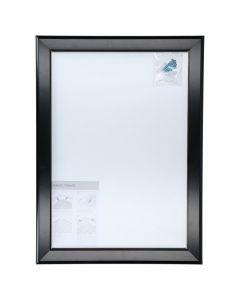 Väggram A3, aluminiumprofil 32mm svart