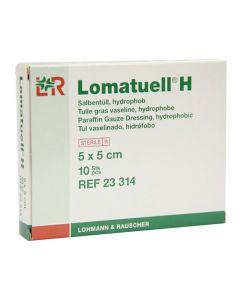 Sårbäddsskydd LOMATUELL H 5x5cm 10/FP