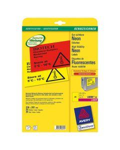 Etikett 210x297mm neongul 25/FP