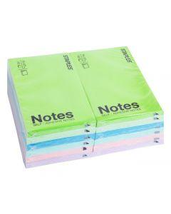 Notes STAPLES 76x127mm sort. färger