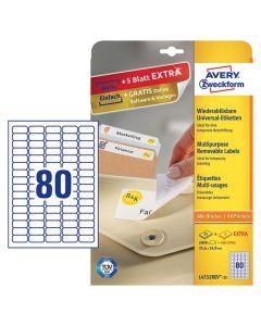 Etikett avtagbar 35,6x16,9mm 2000/FP