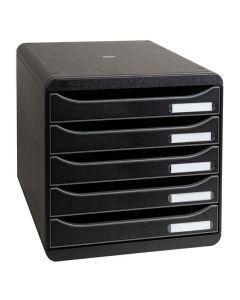 Blankettbox BIG-BOX PLUS 5 lådor svart