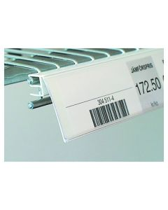 List vinklad 2-trå 26x885mm vit 25/FP