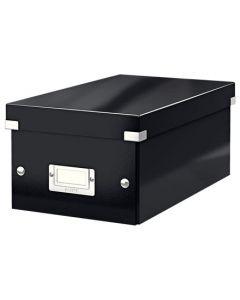 Förvaringslåda DVD Click & Store svart