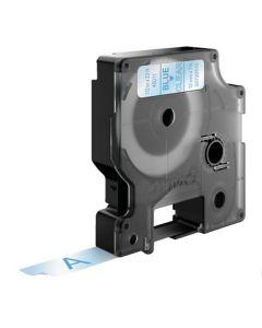 Tape D1 12mm Blå på Klar