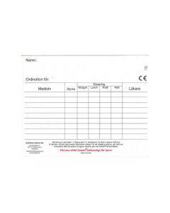 Dosett maxi ordinationskort 10/FP