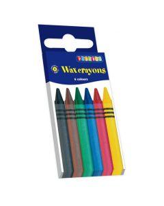 Vaxkrita 6 färger