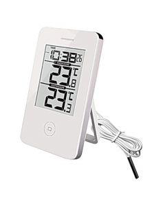 Termometer TF Inne/Ute Digital + Klocka