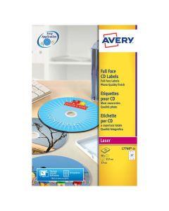 Etikett AVERY Fullface CD 50/FP