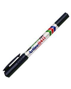 Märkpenna Artline 041T 2-i-1 svart