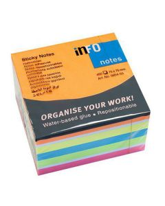 Notes INFO NOTES kub 75x75mm Brilliant