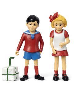 Tommy och Annika - Pippi Långstrump Figurset Micki