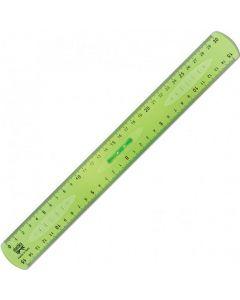 Linjal dubbel m handtag 30cm