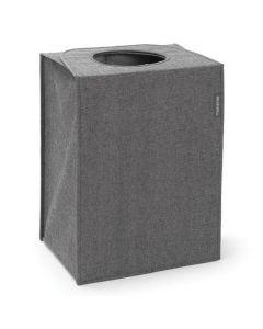 Tvättkorg Rektangulär 55 liter Svart