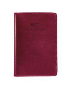 Lilla Fickdagboken konstläder röd - 325